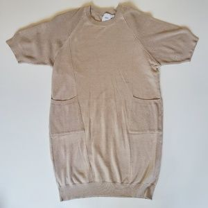 ASOS | Cream Raglan Sweater Maternity Tunic Dress